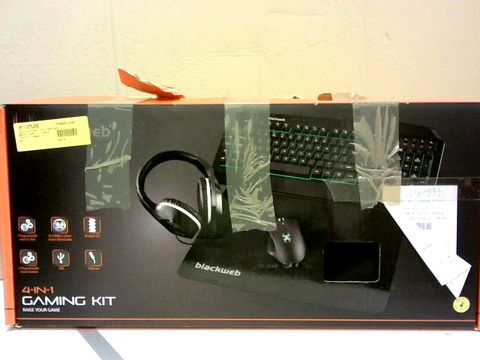 BLACKWEB 4 IN 1 GAMING KIT - KEYBOARD, MOUSE, HEADSET AND MOUSEMAT