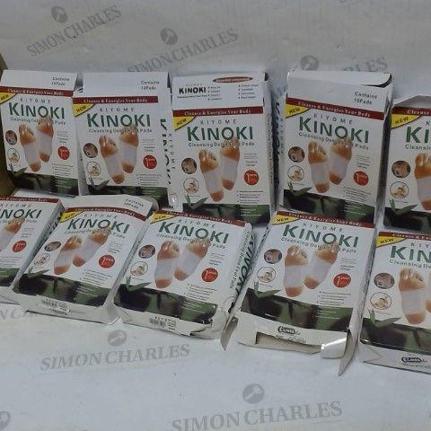 LOT OF APPROXIMATELY 10 KIYOME KONOKI DETOX FOOT PADS 10PC