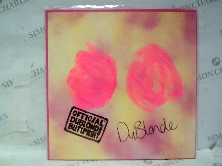 "DU BLONDE HOMECOMING 12"" VINYL ALBUM - SIGNED BABY PINK"