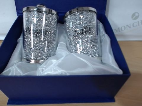 BOXED SALT AND PEPPER SHAKERS