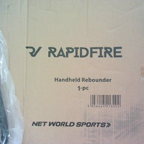 RAPIDFIRE HANDHELD REBOUNDER WITH CARRY CASE BAG FROM NET WORLD SPORTS