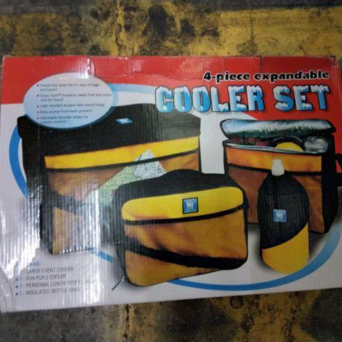 4-PIECE EXPANDABLE COOLER SET