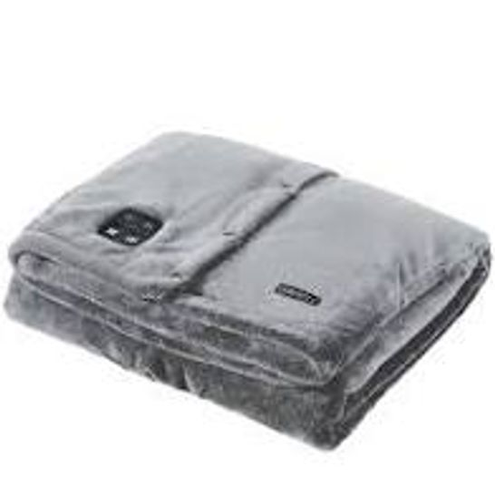 BOXED HOMEDICS COMFORT PRO TRANSFORM CORDLESS CONVERTIBLE THROW WITH HEAT AND VIBRATION