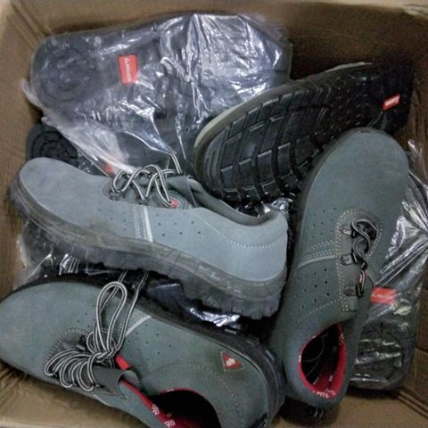 8 ASSORTED PAIRS OF STEEL TOE CAPPED TRAINERS