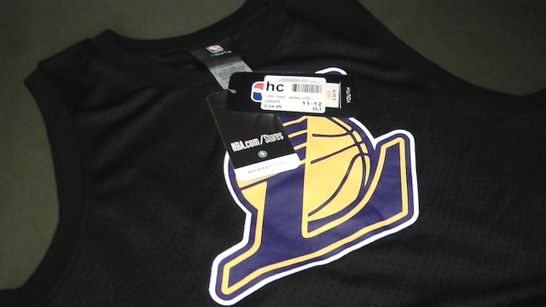 NBA LAKERS MESH JERSEY IN BLACK - 11-12