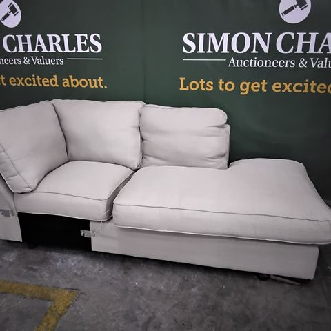 NATURAL FABRIIC CHAISE SECTION