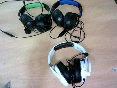 JOB LOT 3X ASSORTED TURTLE BEACH GAMING HEADSETS
