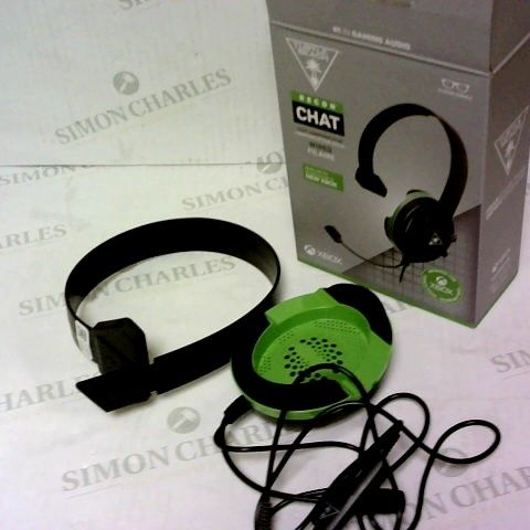 TURTLE BEACH RECON CHAT BLACK/GREEN WIRED HEADSET