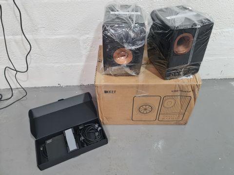 KEF LS50 WIRELESS MK2 SPEAKERS - CARBON BLACK