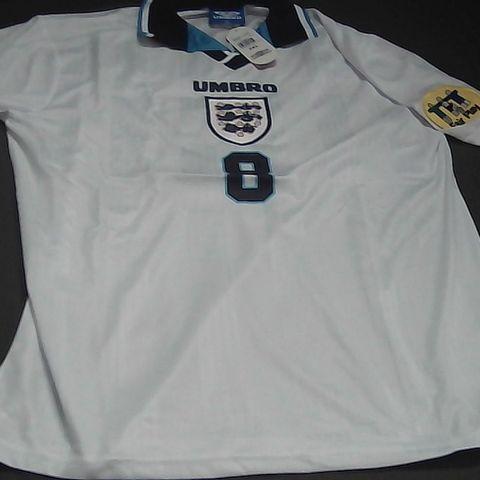UMBRO RETRO ENGLAND FOOTBALL SHIRT #8 GASGOINE 2XL