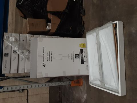 PALLET OF APPROXIMATELY 14 AUDIO VISUAL DIRECT MOBILE EASELS