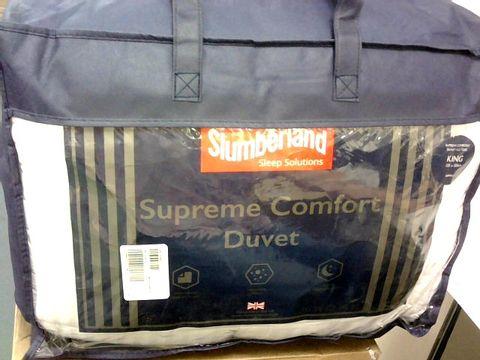 SLUMBERLAND SUPREME COMFORT COTTON DUVET 10.5 TOG - WHITE KING SIZE