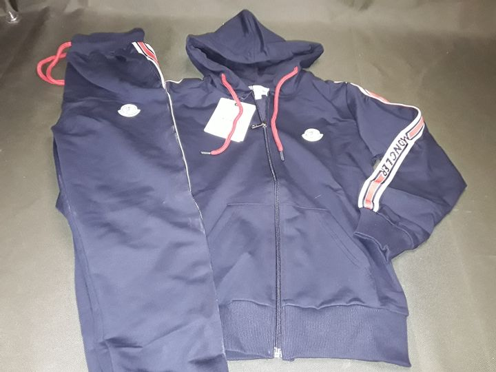 MONCLER STYLE KIDS TRACKSUIT IN BLUE - 10 -11 YRS