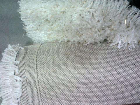 JULIEN MACDONALD WHITE SPARKLE RUG APPROXIMATELY 120X170CM