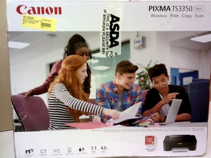 CANON PIXMA TS3350 WIRELESS COLOUR PRINTER - BLACK