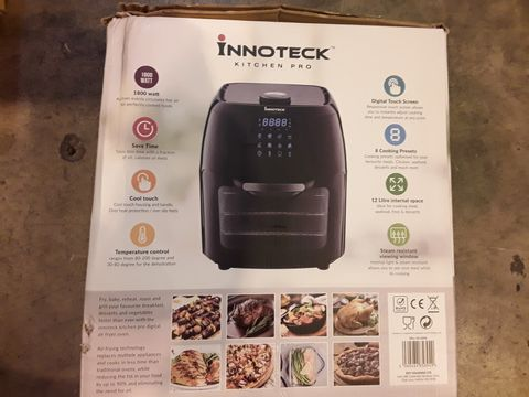 BOXED INNOTECK KITCH PRO 1800W 12 LITRE AIR FRYER