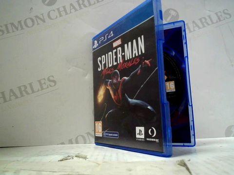 MARVEL SPIDER-MAN MILES MORALES PLAYSTATION 4 GAME