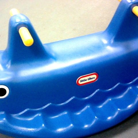 WHALE TEETER TOTTER - BLUE