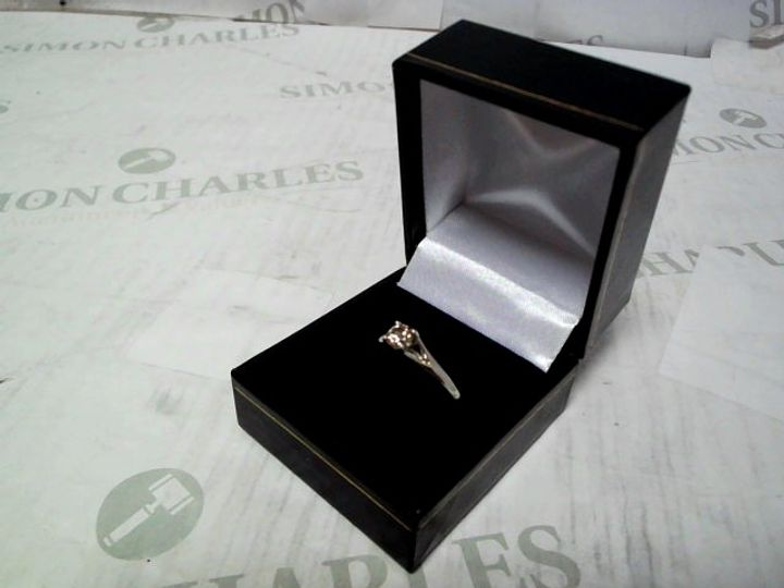 9CT WHITE GOLD 1/2 CARAT DIAMOND SOLITAIRE RING