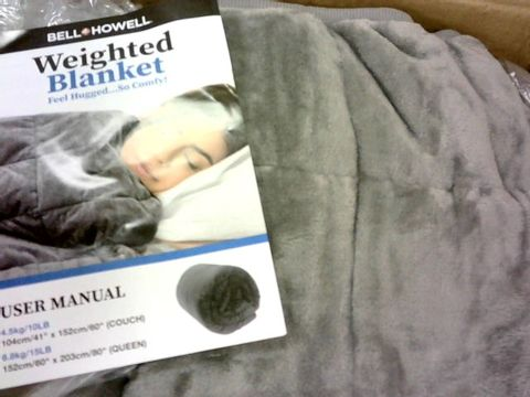 BELL & HOWELL WEIGHTED BLANKET IN GREY