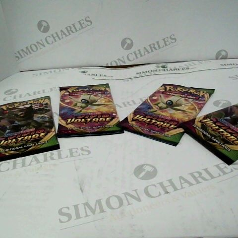4 UNOPENED PACKETS OF POKEMON CARDS