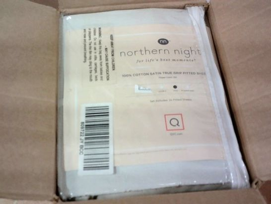 NORTHERN NIGHTS SATEEN SET OF DEEP POCKET FITTED SHEETS- KING SIZE