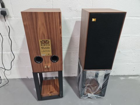 WARFDALE LINTON PAIR OF LOUDSPEAKERS WITH STANDS - WALNUT (4 BOXES)
