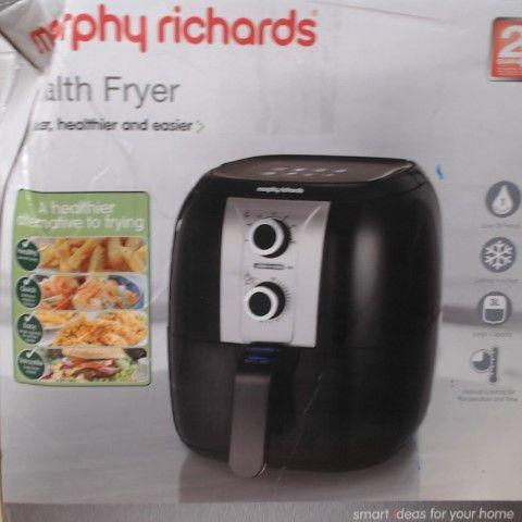 MORPHY RICHARDS 480003 HEALTH FRYER, PLASTIC, 1400 W, BLACK