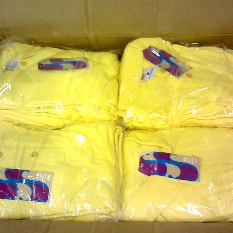 LARGE QUANTITY OF BOYS YELLOW POLO SHIRTS IN VARIOUS SIZES