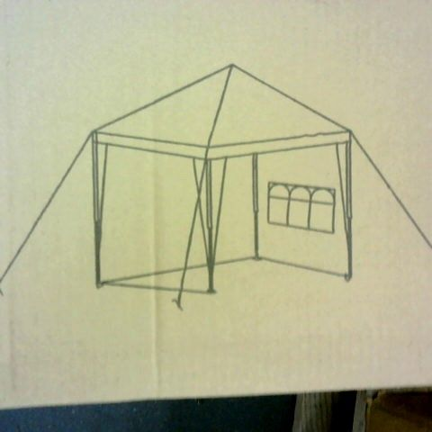 2.5 × 2.5M POP UP GAZEBO WITH 3 PIECE SIDES- COLLECTION ONLY