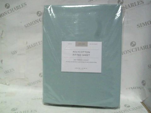 JOHN LEWIS SINGLE 200 THREAD COUNT FITTED SHEET
