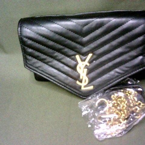 YSL BLACK LEATHER LOOK BAG
