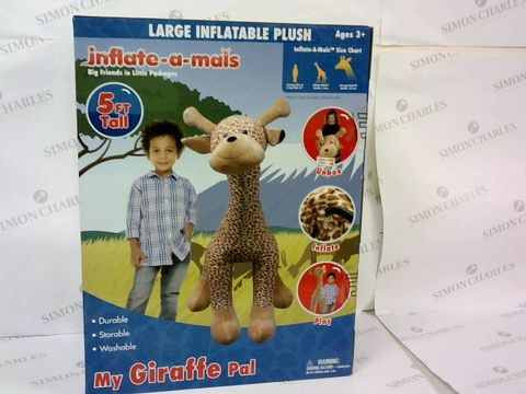 BRAND NEW BOXED INFLATE A MAIS MY GIRAFFE PAL 5FT TALL