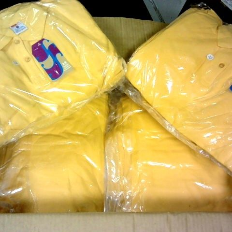 LOT 0F APPROXIMATELY 100 YELLOW GIRLS POLO SHIRTS IN VARIOUS SIZES
