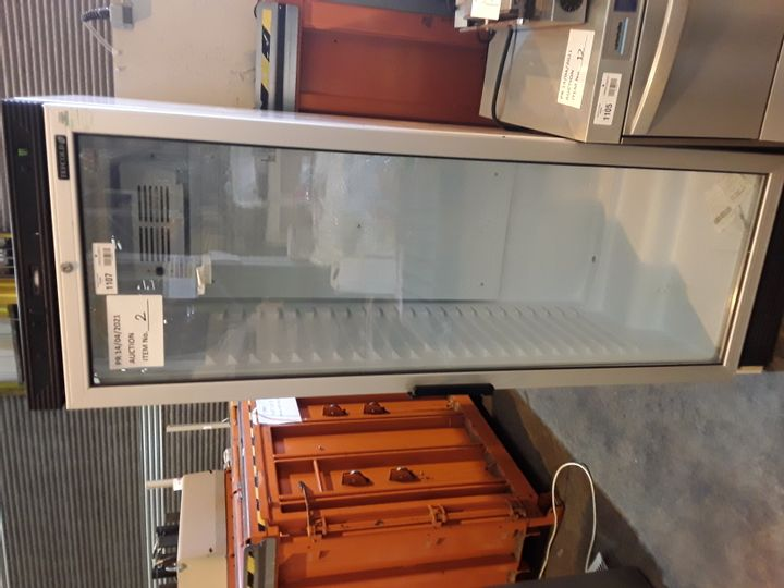 TEFCOLD SINGLE DOOR TALL DISPLAY FREEZER FS1380