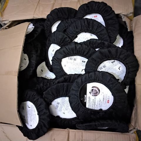 BOX OF APPROXIMATELY 35 ASSORTED STEERING WHEEL COVERS