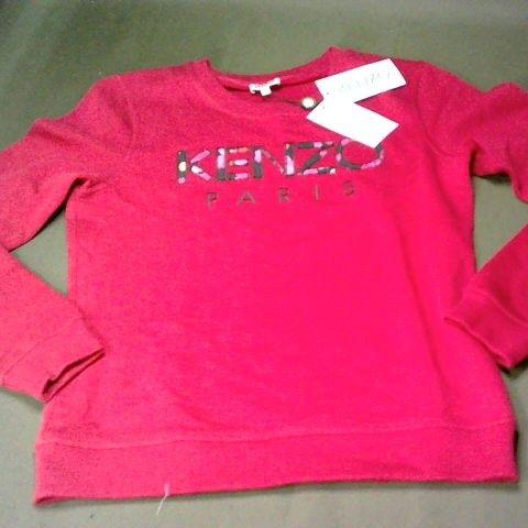 KENZO PARIS RED CREW NECK JUMPER - M