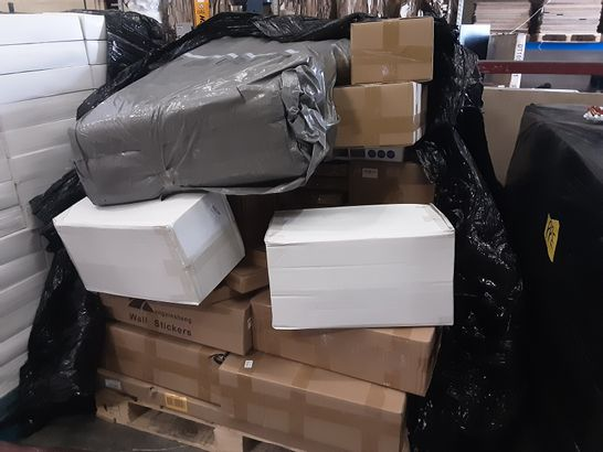 PALLET OF A LARGE NUMBER OF ASSORTED ITEMS TO INCLUDE LEEWADEE FALTBARE THAI MASSAGE MATS, ELECOM LAPTOP TABLE AND WEIQIU HIGH-POINT SPORTS SKATES
