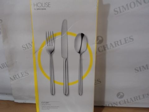 HOUSE BY JOHN LEWIS CUTLERY 6 PLACE SETTINGS - STAINLESS STEEL