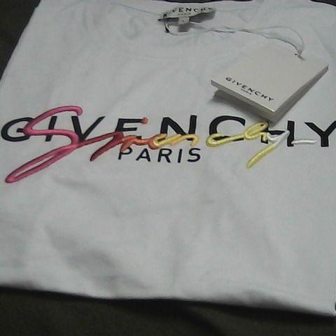 GIVENCHY PARIS WHITE T-SHIRT LARGE
