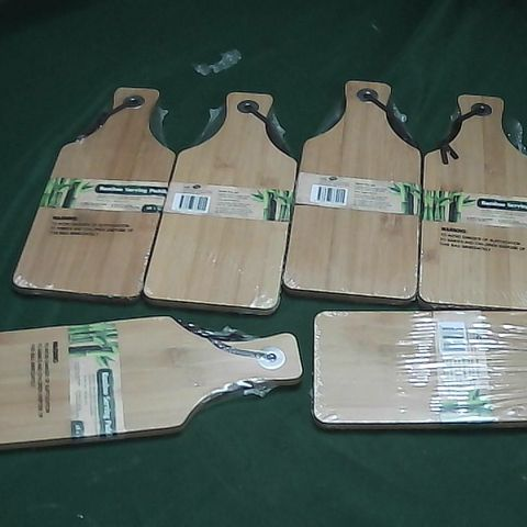 6 BAMBOO SERVING PLATTERS