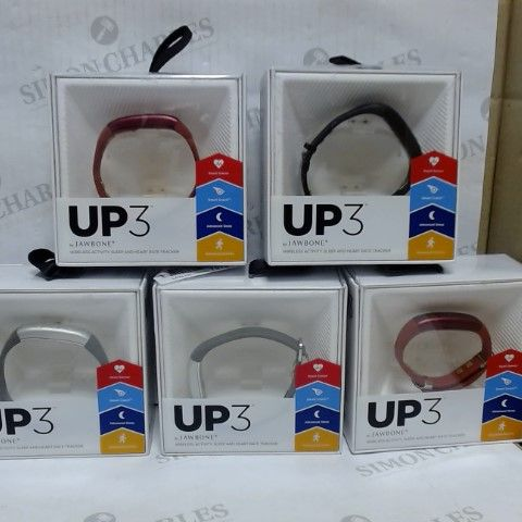LOT OF 5 JAWBONE UP3 ACTIVITY HEALTH TRACKER WATCH