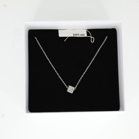 BRAND NEW BOXED CALVIN KLEIN ROCKING SS NECKLACE