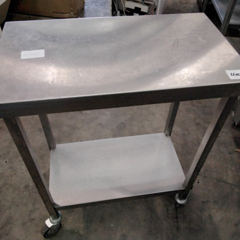 TWO TIER METAL CATERING TROLLEY