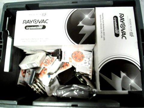 LOT OF A LARGE QUANTITY OF ASSORTED HEARING AID BATTERIES