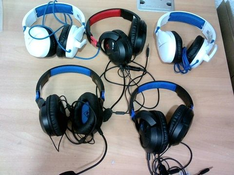JOB LOT 5X ASSORTED TURTLE BEACH GAMING HEADSETS