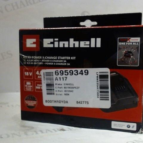 ORIGINAL EINHELL 18V 4.0 AH POWER X-CHANGE STARTER KIT