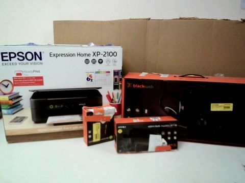LOT OF APPROXIMATELY 15 ELECTRICAL ITEMS TO INCLUDE; EPSON PRTINTER, DVD PLAYER, HEADPHONES ETC