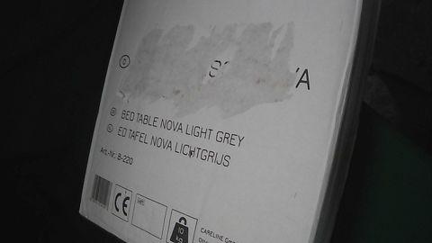 BEDSIDE TABLE NOVA LIGHT GREY