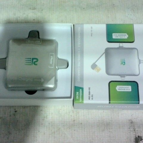 RUSH CHARGE TRIDENT 4000MAH PORTABLE CHARGER FOR APPLE & ANDROID